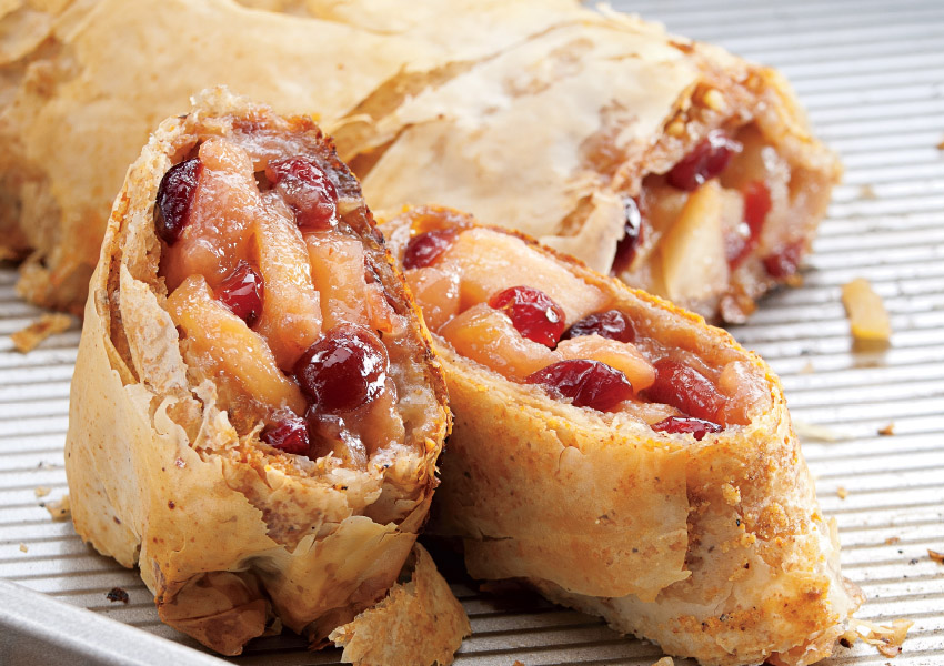 Apple-Cranberry Strudel