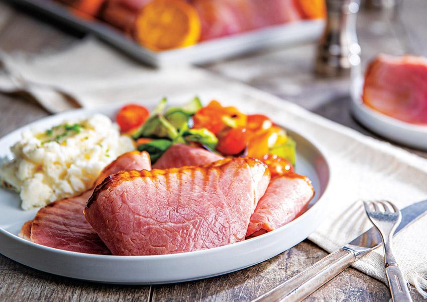Citrus-Molasses Glazed Ham
