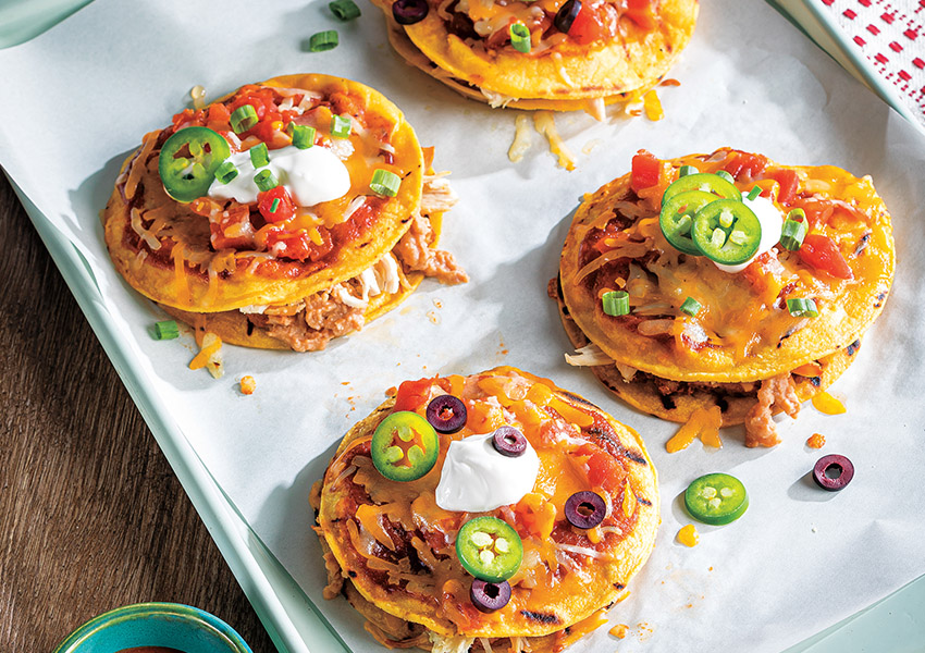 Grilled Chicken Enchilada Mexican Pizzas