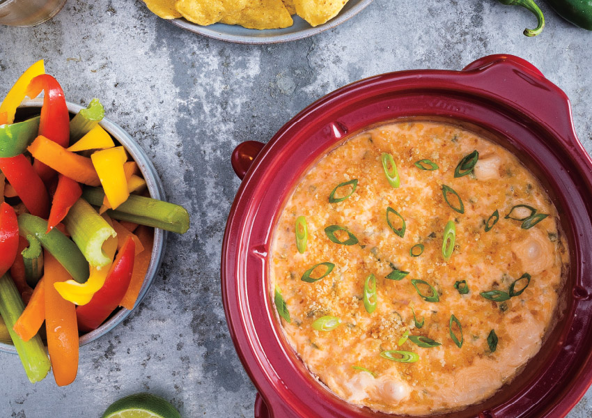 Slow Cooker Shrimp-Jalapeño Popper Dip
