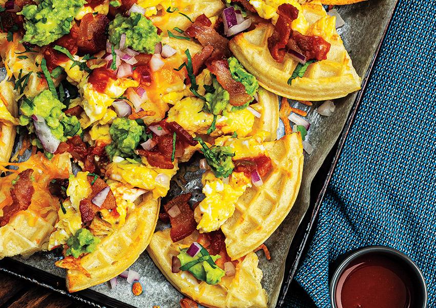 Tex-Mex Waffle Nachos
