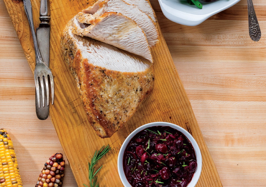 Turkey Breast with Balsamic-Cranberry Sauce